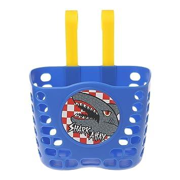 Scooter Bicycle Basket Children Bike Plastic Cartoon Front Handlebar Carrier Bag
