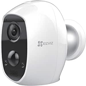 EZVIZ C3A Outdoor Battery Powered Security Camera - 100% Wire-Free 1080P Security Camera with Two-Way Audio, IP65 Waterproof,PIR Motion Detection Monitor, 25ft Night Vision,Wall Mount