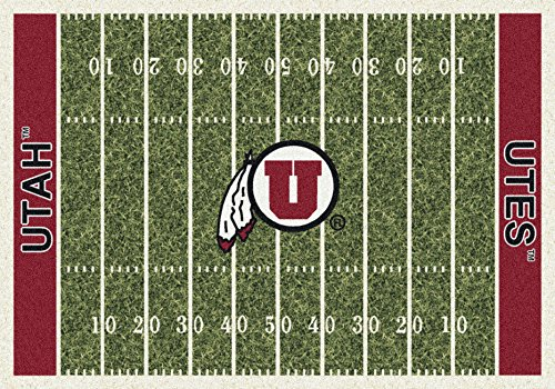 NCAA Home Field Rug - Utah Utes, 5'4'' x 7'8'' by Millilken
