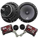 Massive Audio FC6 - 6 Inch / 6.5 Inch 150w / 300 Watts MAX, 25mm Silk Dome Tweeter, 4 Ohm, 12dB X-Over, Component Car Speaker System. Sold as Pair