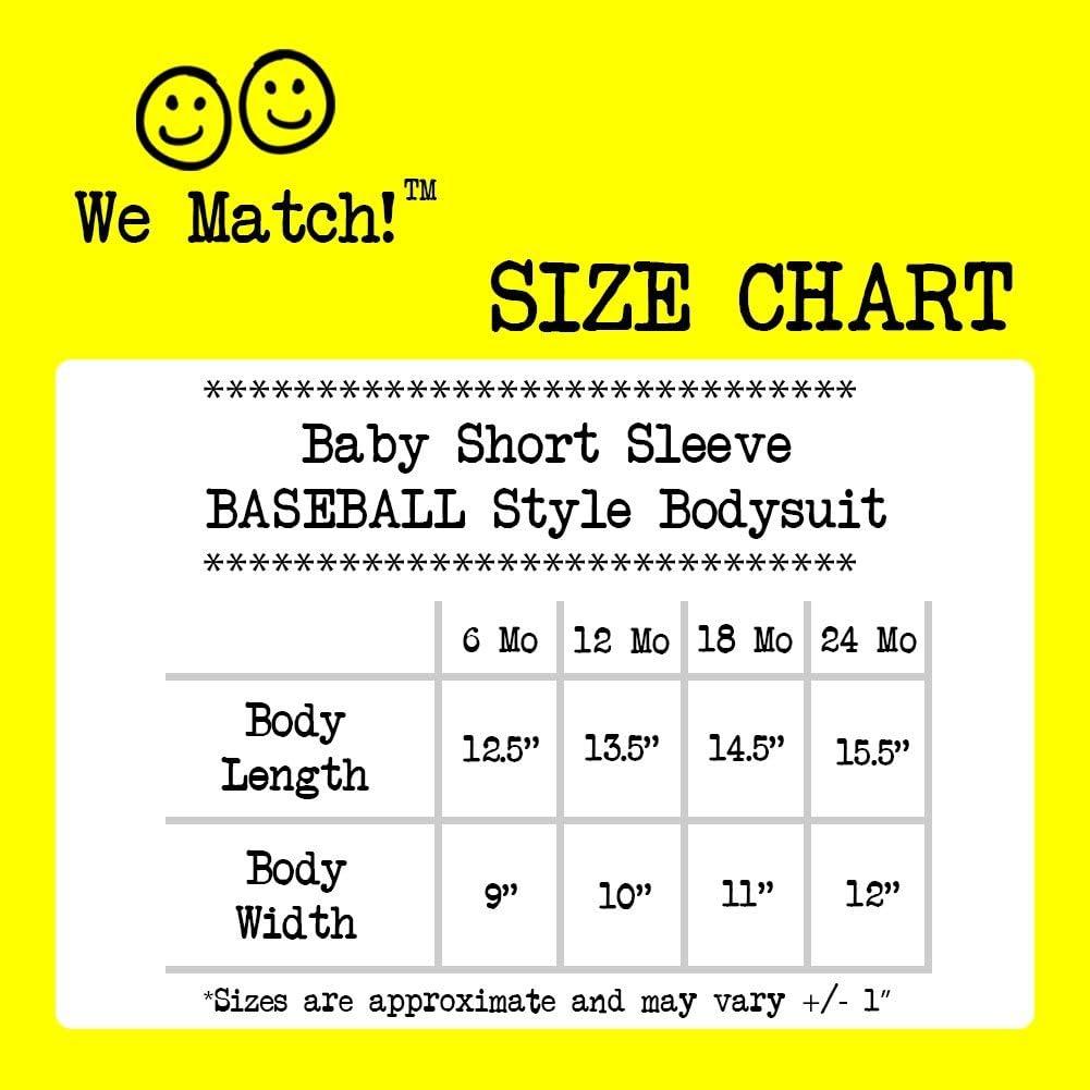 Treble Clef /& Bass Clef Matching Baseball Adult T-Shirt /& Baby Bodysuit Set We Match
