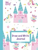 """Draw and Write Journal: Grades K-2: Primary Composition Half Page Lined Paper with Drawing Space (8.5"""" x 11"""" Notebook…"""