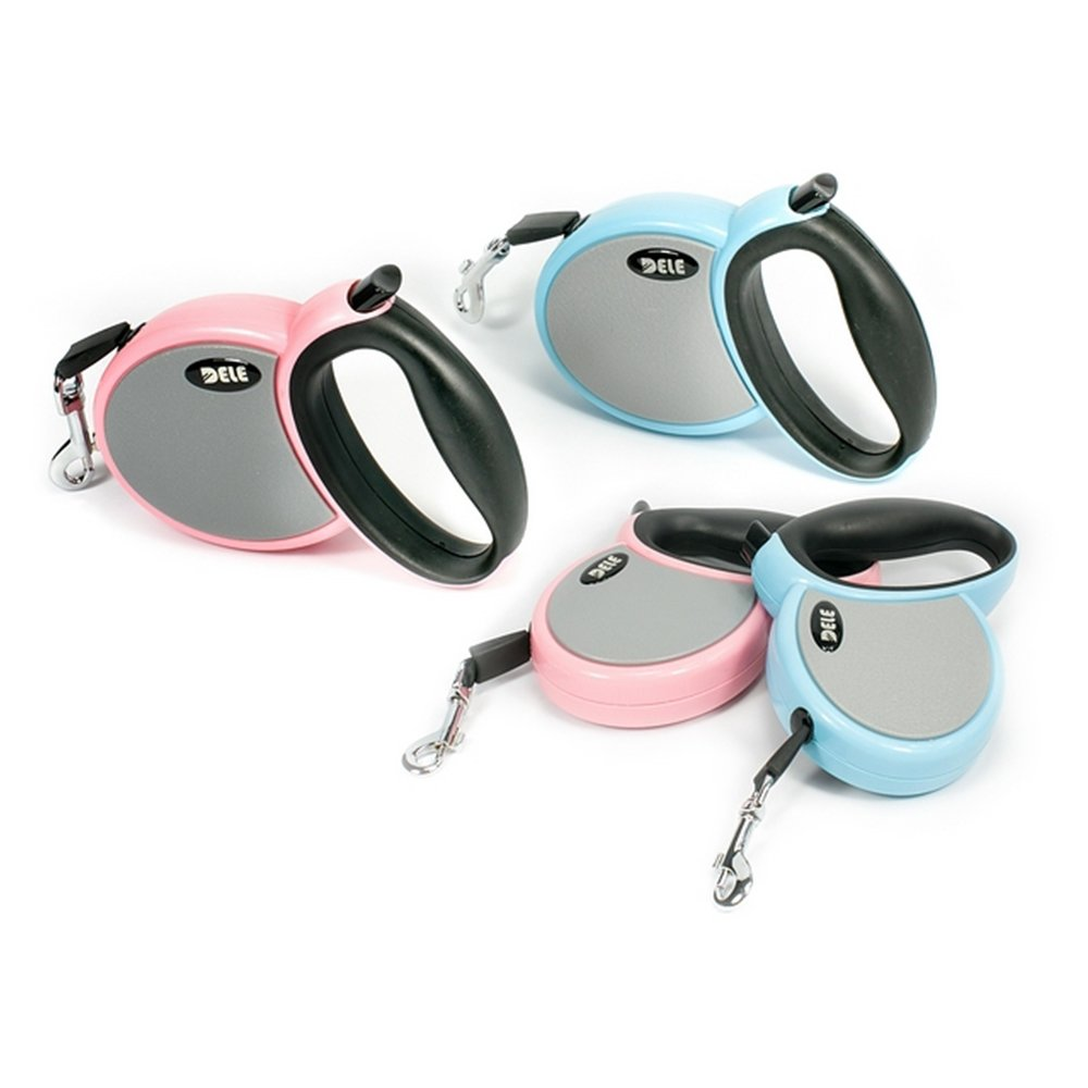 Dog Retractable Leashes 10ft, Smooth Retracting Leash for Small Medium Breed up to 40lbs, No Tangle and Durable Retractable Dog Lead, Brake and Lock Button, Free Waste Bags Holder Included by Triumilynn DELE