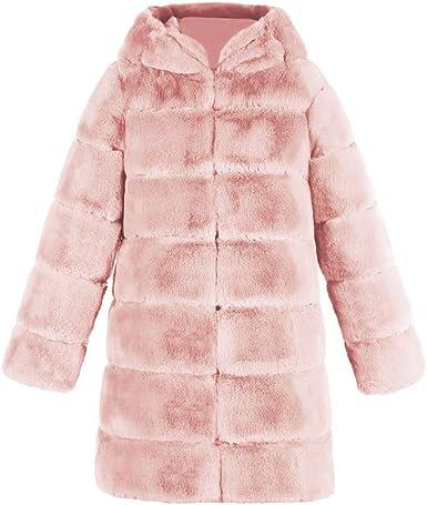 Manteau en Fausse Fourrure à Mode pour Femmes Automne et