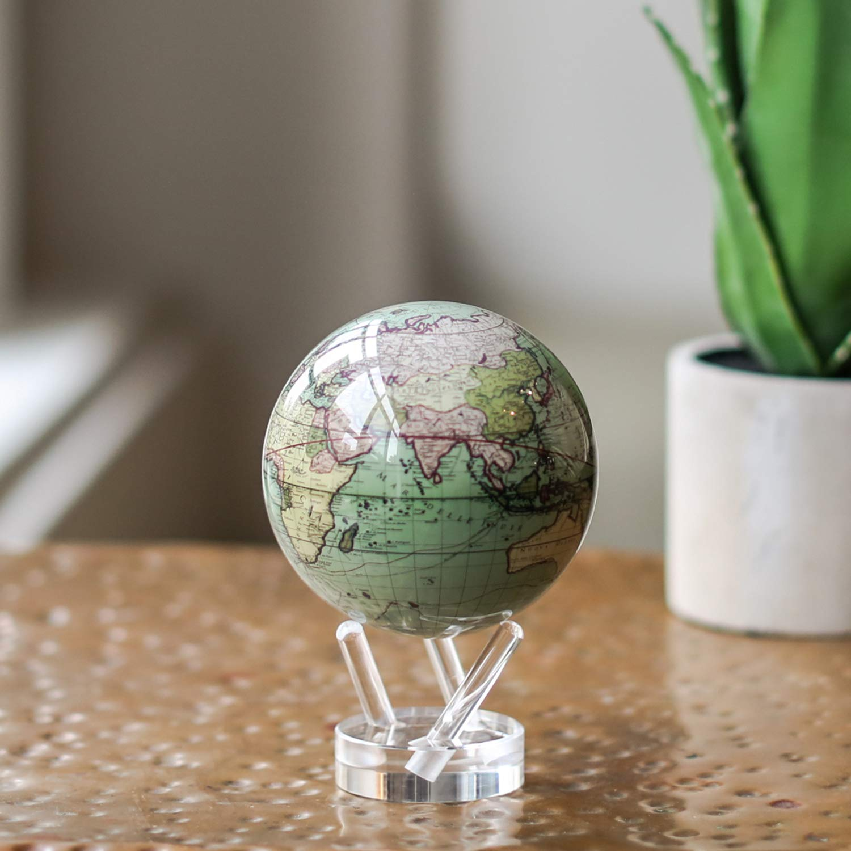 Antique Terrestrial Green MOVA Globe 4.5'' by Mova