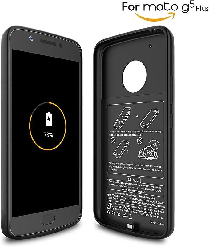 Newdery Funda Bateria Moto G5 plus, 3800mAh Carcasa Bateria ...