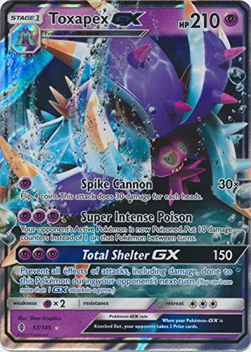 Toxapex-GX - 57/145 - Ultra Rare - Sun & Moon: Guardians Rising