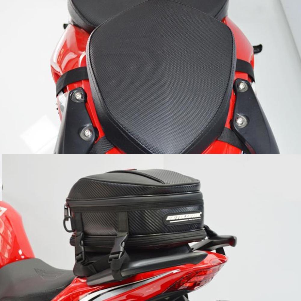 bagaglio posteriore borsa per moto airiver Borsa da moto per portapacchi portatile in fibra di carbonio bicicletta borsa per sella borsa per coda nero Oxford borsa per portapacchi