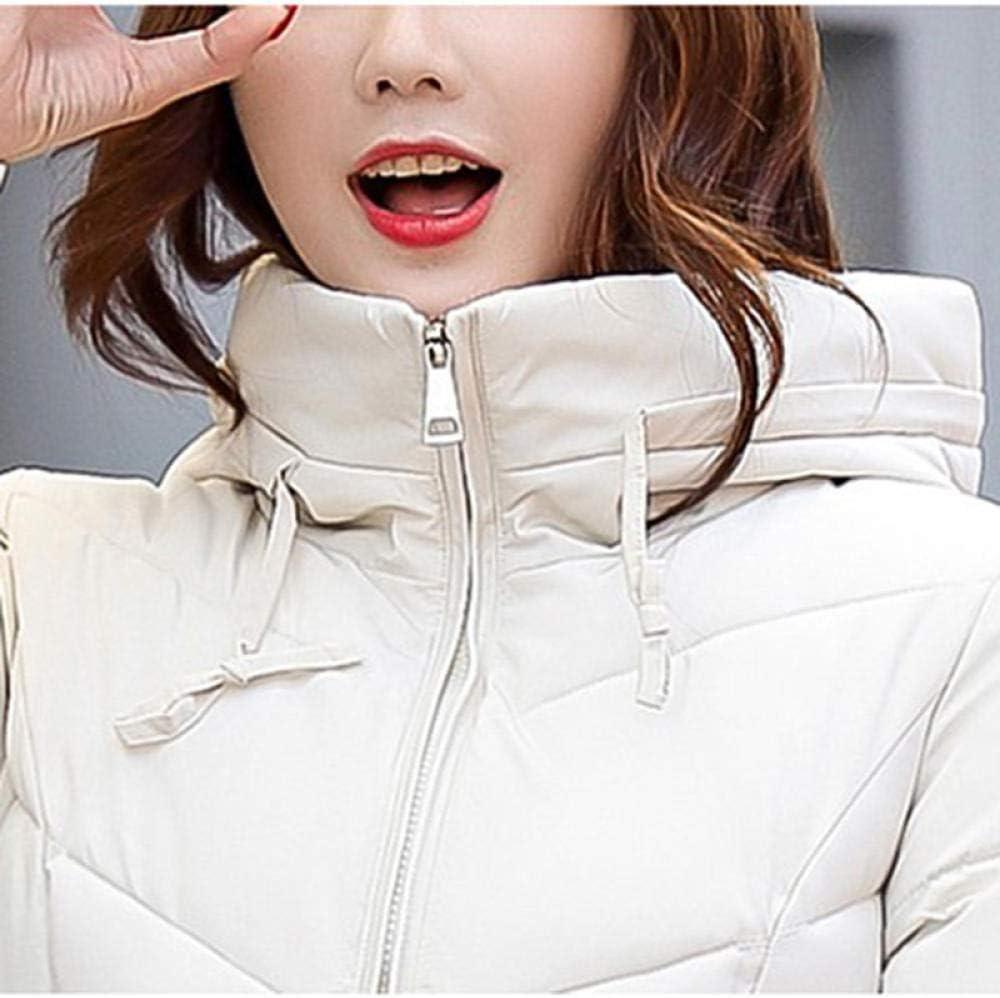 wanghuiminwje Veste à Capuchon Winter Thicken Slim Fit Type Veste en Duvet imperméable et Antistatique en Tissu pour Femmes 1