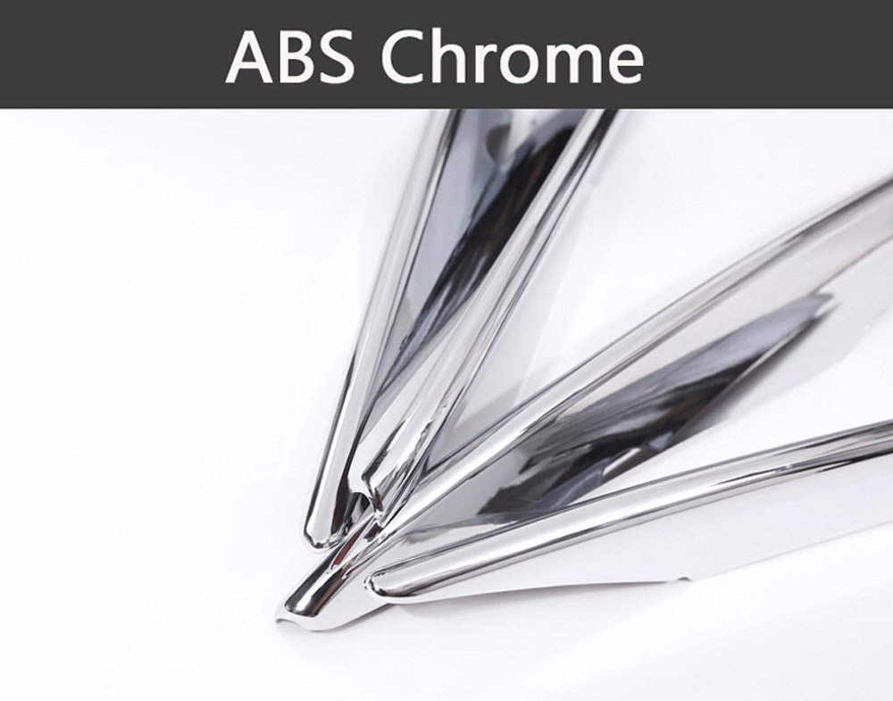 Strisce cromate in ABS per prese daria 4 pezzi