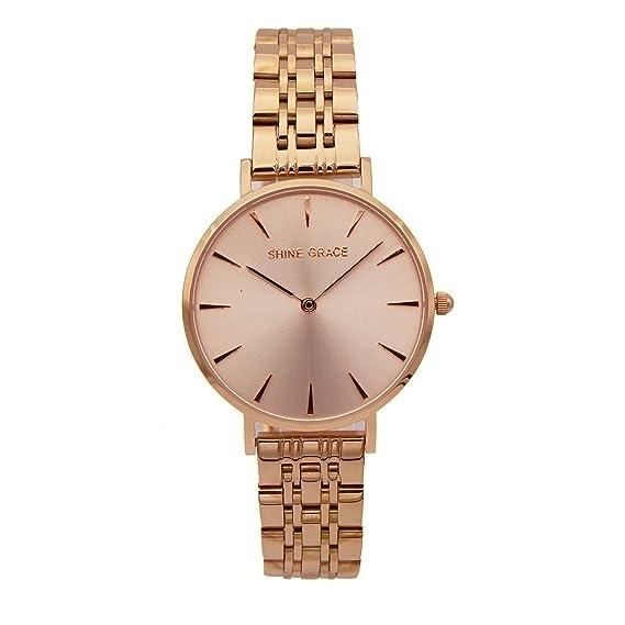 Shine Grace 32 mm), diseño ultrafino de las mujeres relojes de cuarzo muñeca relojes