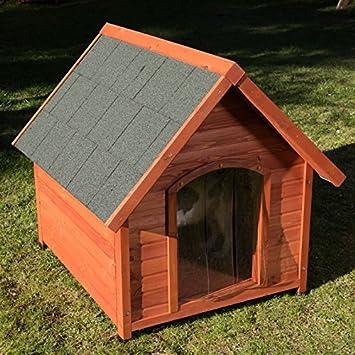 animalmarketonline Caseta para perros litera de madera para exterior Santoku L 93 x p 86 x H 84 cm: Amazon.es: Productos para mascotas