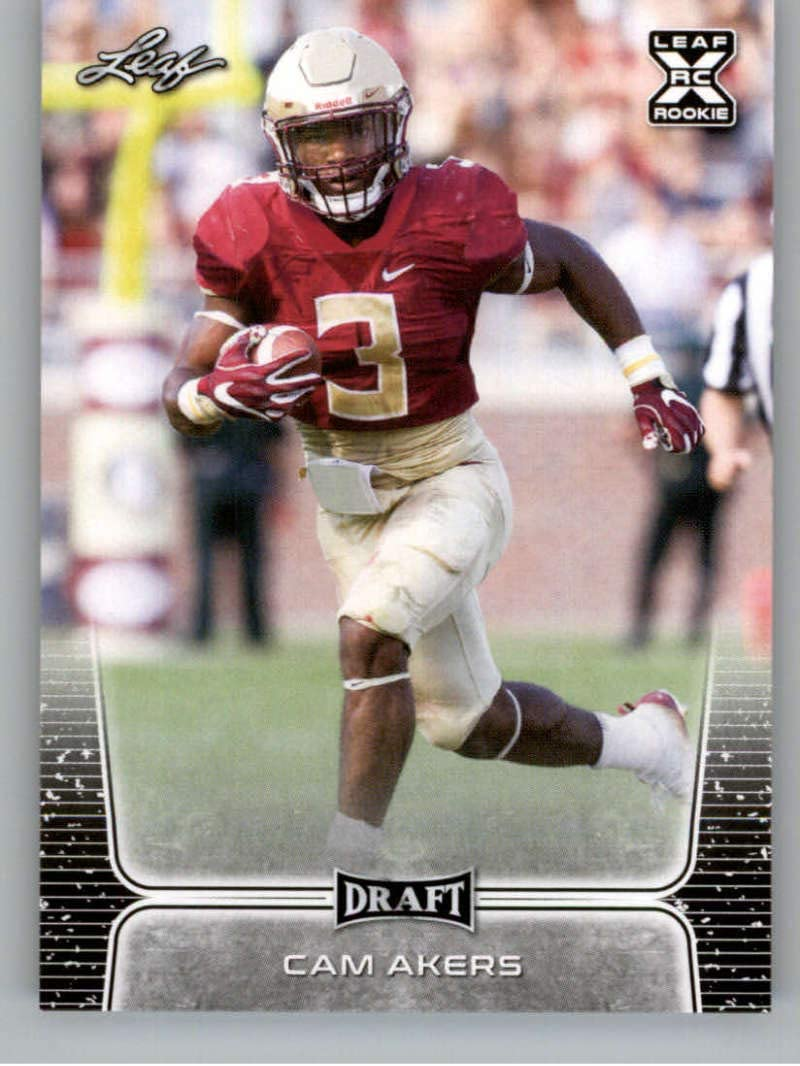 Amazon Com 2020 Leaf Draft 22 Cam Akers Rc Florida State Seminoles San Francisco 49ers Rc Rookie Card Nm Mt Nfl Trading Football Card Collectibles Fine Art