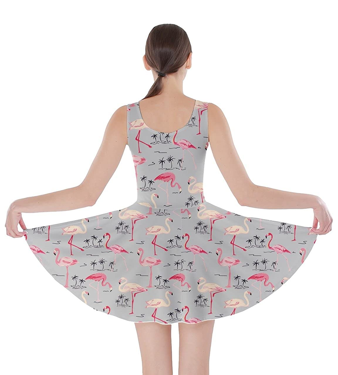 420b377a7d CowCow Womens Flamingo Birds Feather Summer Hot Tropical Poolside  Partydress Beach Skater Dress, XS-5XL: Amazon.ca: Clothing & Accessories