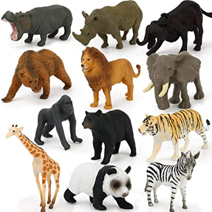 Gli animali della fauna selvatica realistica Action Figure modello Educativo Bambini Giocattolo Regalo