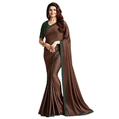 4d5e66fc8d969 Dilse Fashion Designer Partywear Sana Silk Saree for Women s with  Unstitched Blouse