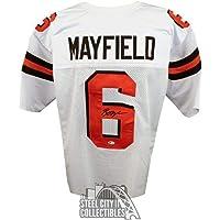 $483 » Signed Baker Mayfield Jersey - Custom White BAS COA - Beckett Authentication - Autographed NFL Jerseys
