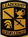 [Single Count] Custom and Unique (2 3/8 X 3 1/8' Inches) ROTC Symbol Embroidered Iron-On Patch LEADERSHIP EXCELLENCE Emblem Military Version V Badge Iron-On Embroidered Applique Patch