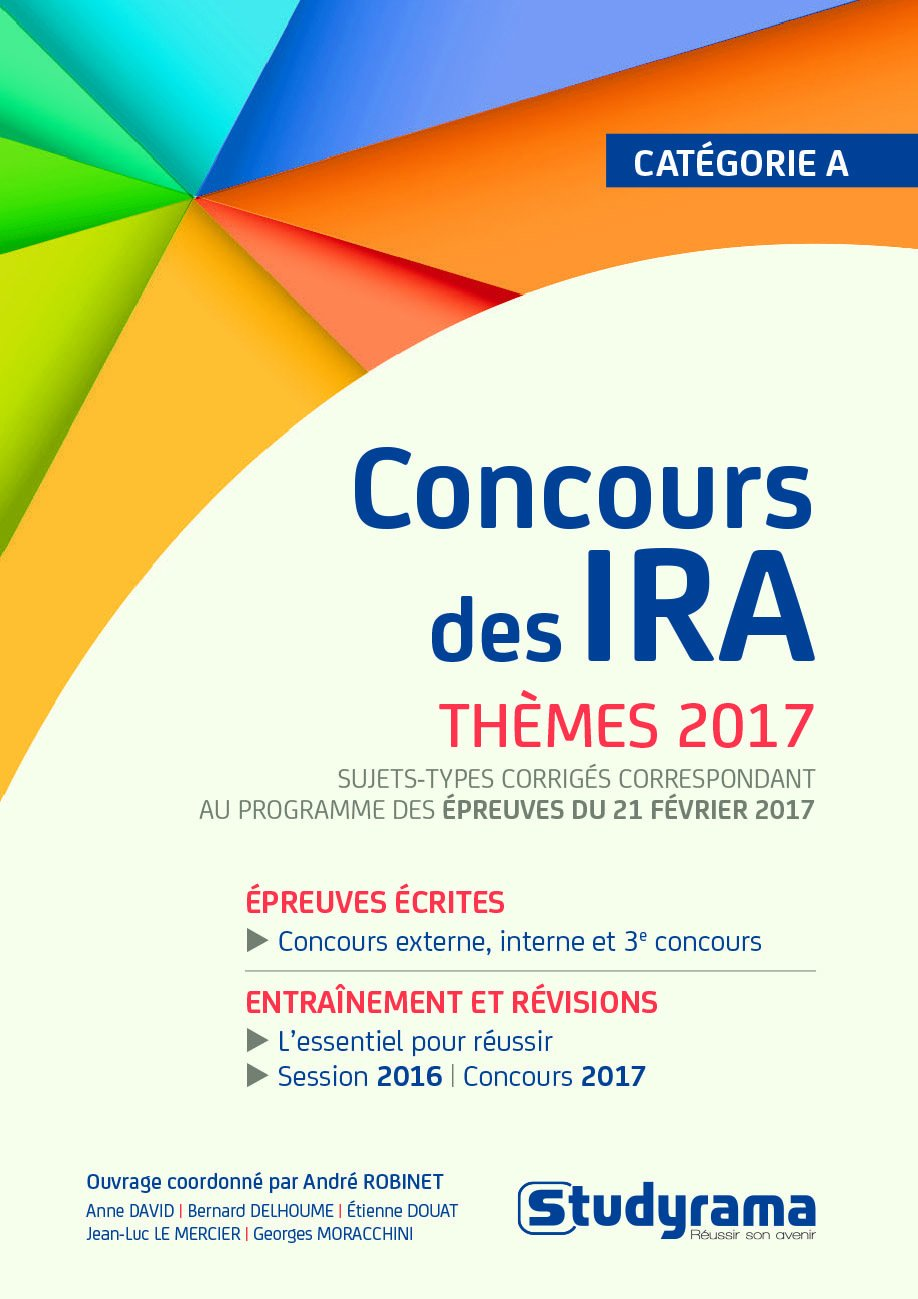 Concours des Ira Themes 2017 (French) Paperback