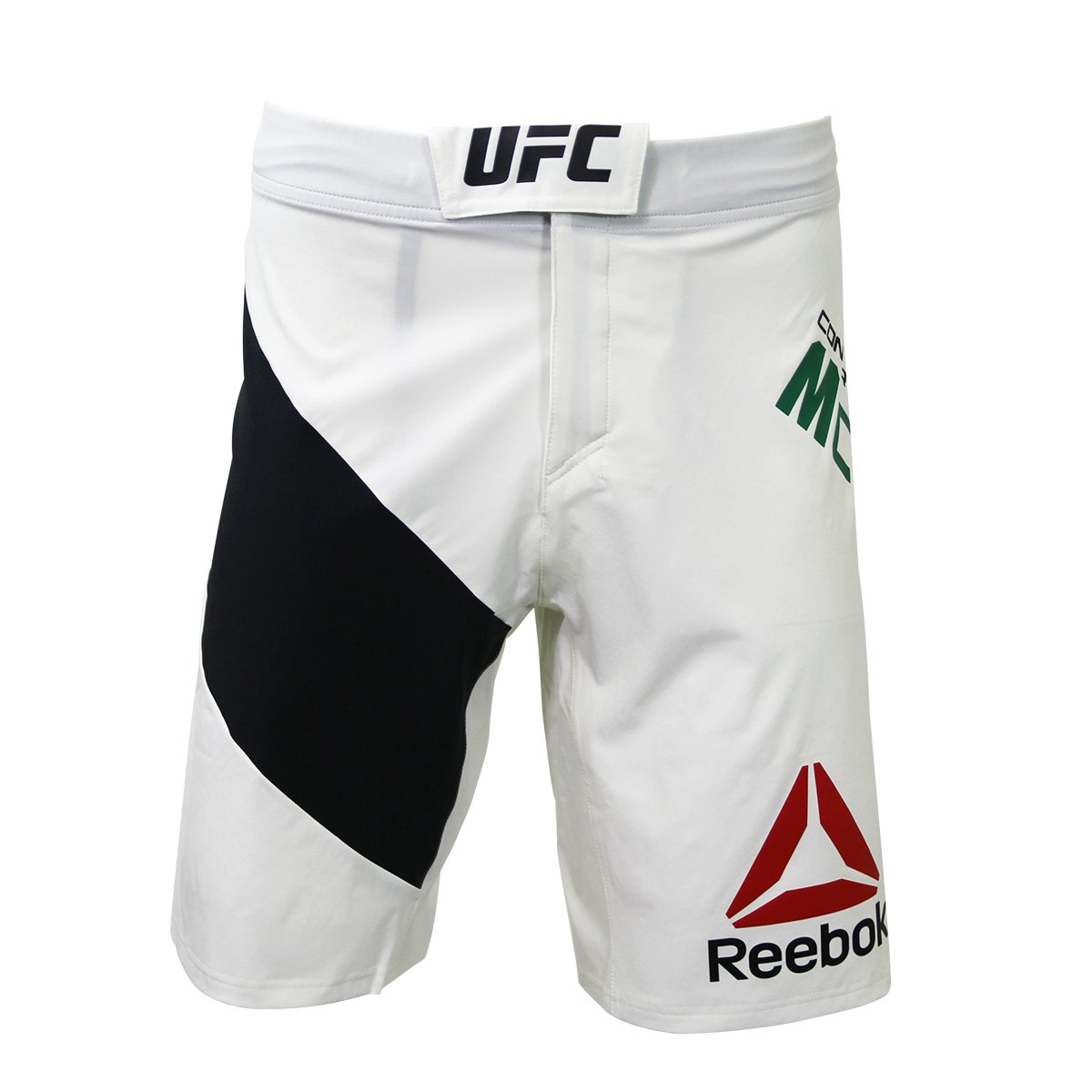 Reebok kit UFC Champion ottagonale Short Men Fighting Short Speedwick, White, XL