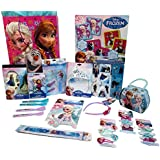 Disney Frozen 15-Piece Birthday or Get Well Gift Tote Bag with Games Toys Arts and Crafts for Girls Ages 3-8