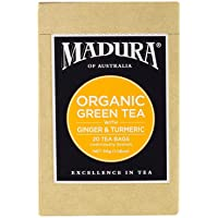 Madura Organic Green, Ginger and Tumeric 20 Enveloped Tea Bags, 1 x 30 g