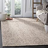 Safavieh Abstract Collection ABT468A Contemporary Handmade Beige and Rust Premium Wool Area Rug (6′ x 9′) For Sale