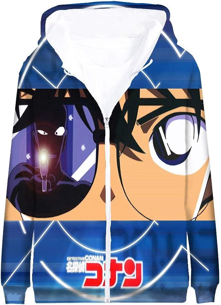 JKkjlojet Detective Conan Pullover Populares Animado 3D Impresi/ón de Abrigo Capa con Cierre de Cremallera Chaqueta con Capucha Desgaste Entre Padres e Hijos Unisex
