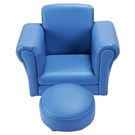 Amazon.com: Silla de reposabrazos azul para niños, sofá ...