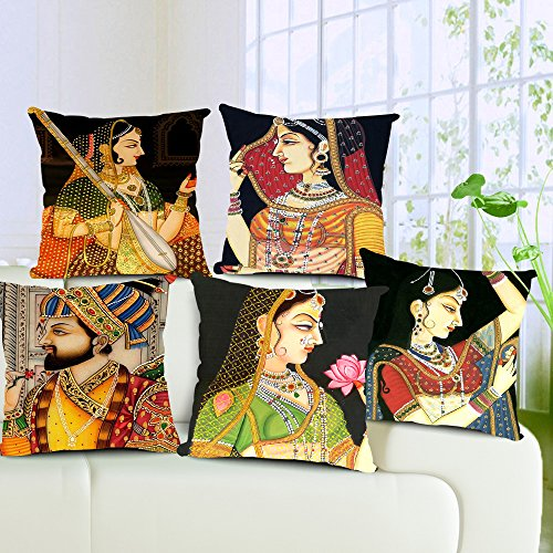 Aart King and Queen Designer Cushion Cover (Set of 5) 16*16