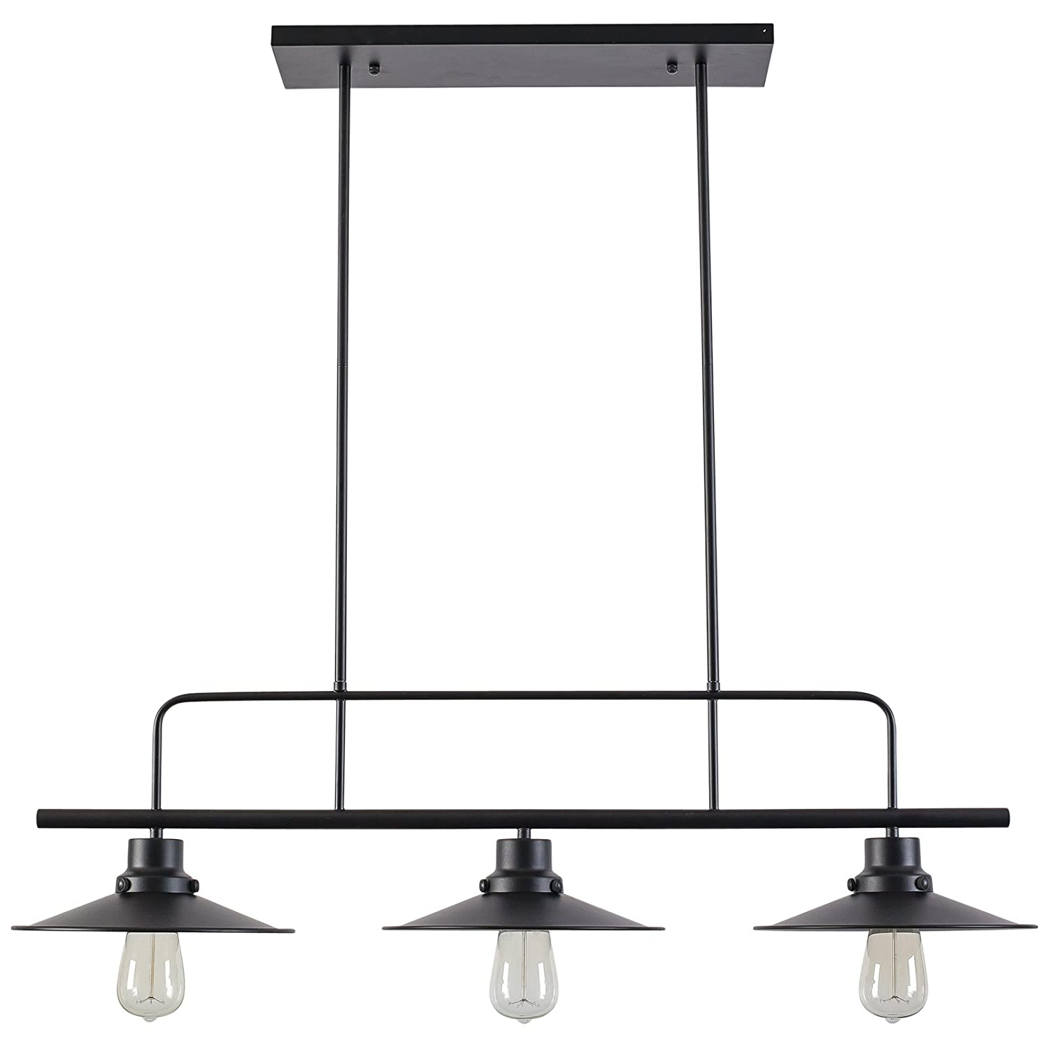 Light Society LS C114 Margaux Island Pendant Lamp Black