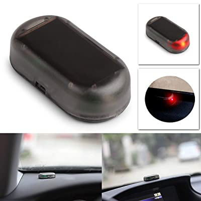 Eaglerich Red Color 1PCS Car Led Light Security System Warning Theft Flash Blinking Fake Solar Car Alarm LED Light: Automotive