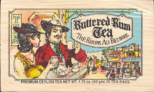 The Metropolitan Tea Company 62WD-618B-100 Buttered Rum 25 Teabags in Wood Box