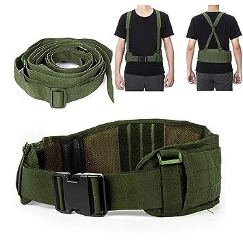 Cinturón Táctico Heavy Duty ajustable seguridad táctico Molle cinturón con  libre correa para equipo de caza d5370c11ad93