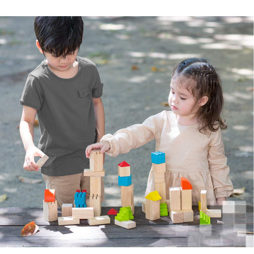 HXGL-Toys Wooden Toy Castle Children's Gift Early Education Puzzle 3-6 Years Old (Color : Multi-Colored) by HXGL-Toys (Image #6)