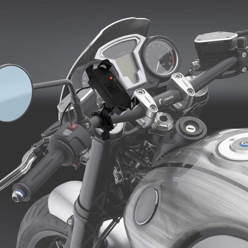 Soporte Movil Moto Universal con Puerto USB para Movil Inteligente Rapido Aprieta para Manillar y Espejo para R 1200 F800GS Africa Twin CRF1000L: Amazon.es: Electrónica