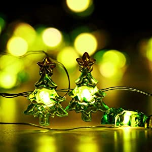 Cute Christmas String Lights Battery Operated, Christmas Tree Lights 10FT 30 LED for Garden,Lawn,Patio,Christmas Tree, Bedroom Decorations