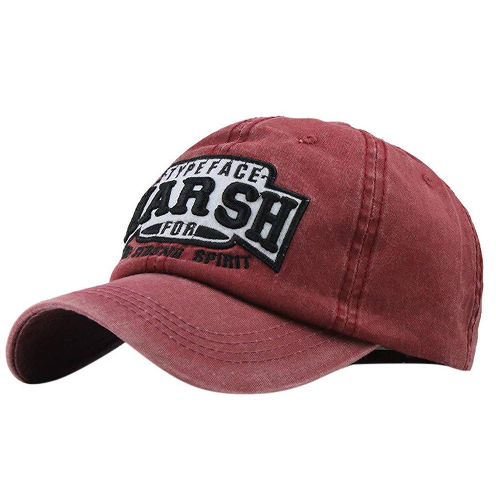 BeautyShe Unisex Vintage Washed Distressed Baseball-Cap Twill Adjustable Dad-Hat