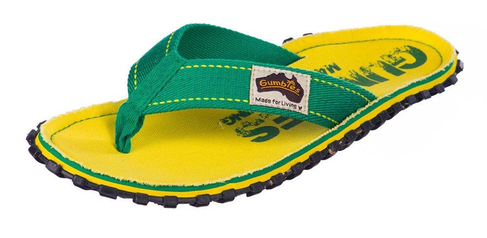Gumbies Damen Zehentrenner - Rosa/Blau Schuhe in Uuml;bergrouml;szlig;en  45 EU|Yellow Eroded