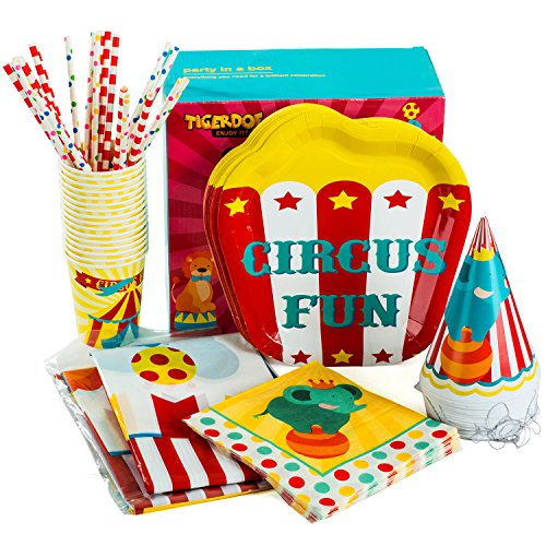 (Circus Party Supplies – Set for 16 Guests - Carnival Party Supplies – Circus Themed Party Supplies - Carnival Party by)