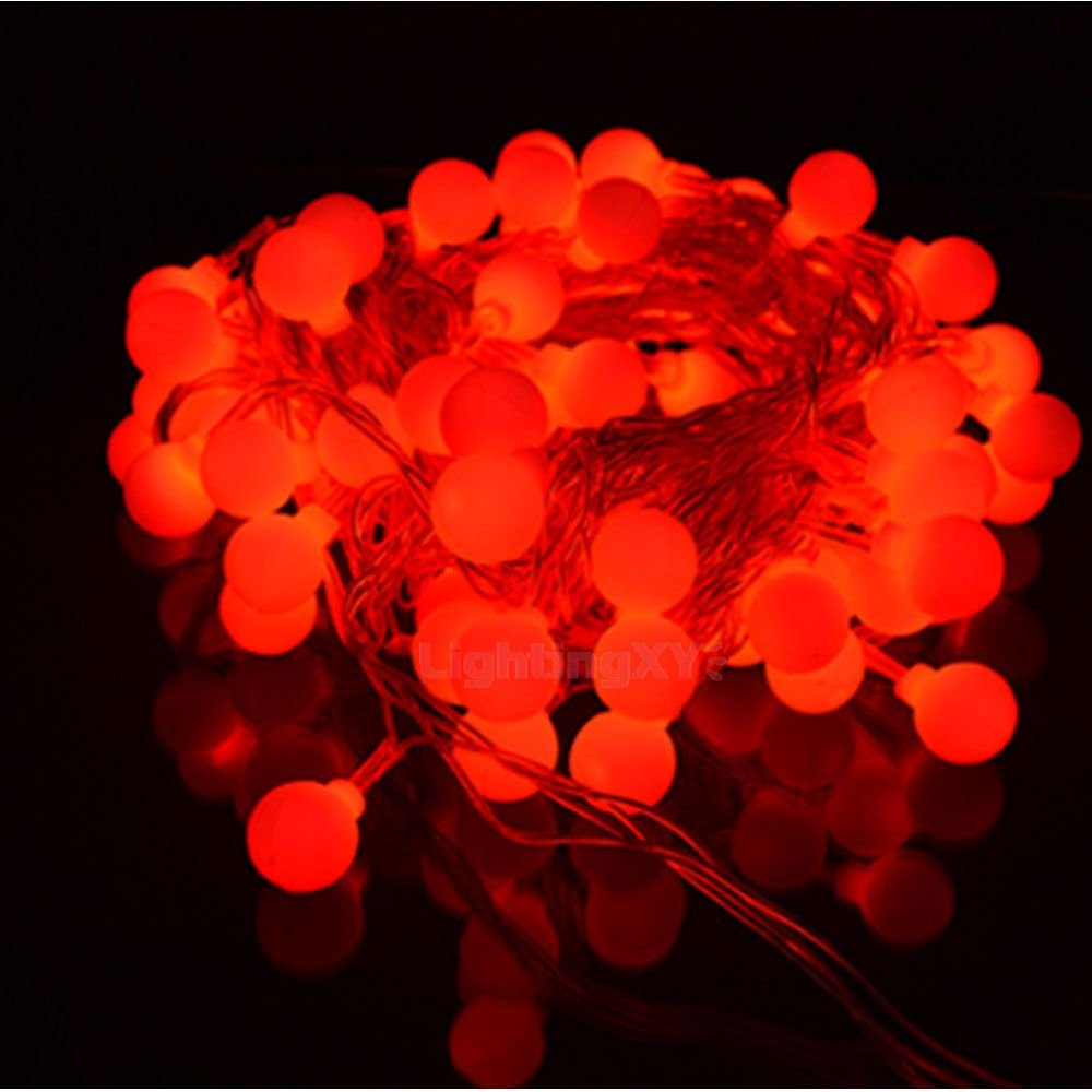 JnDee™ Battery Powered Red Berry Ball Shaped LED Fairy Lights 2M 20LED - ON/OFF/Flash Functions, Perfect for Christmas Wedding and parties [Energy Class A++] JnDee Limited