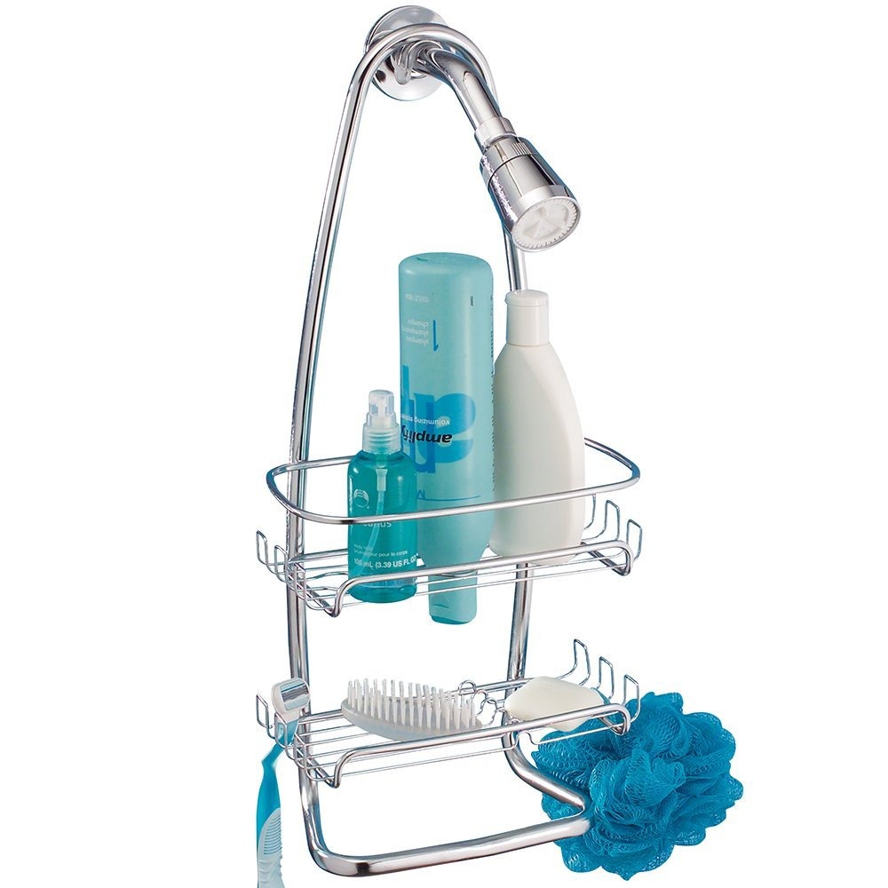 Amazon.com: mDesign Contemporary Bathroom Shower Caddy for Shampoo ...