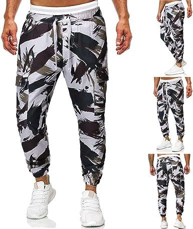 Memefood Pantalones de Hombre Casuales Deporte Joggers Pants ...