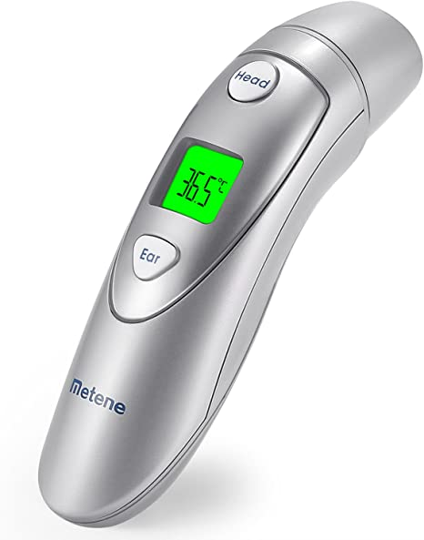 Toddler Medical Thermometer for Fever Suitable for Baby Kids and Adults Metene Forehead and Ear Thermometer