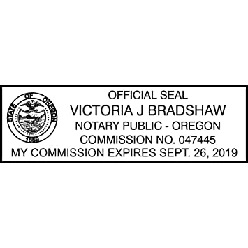Amazon Com Oregon Standard Notary Stamp Office Products