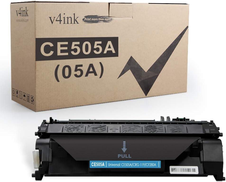V4INK Compatible Toner Cartridge Replacement for HP 05A CE505A Toner Cartridge for HP Laserjet P2035 P2035n P2055 P2055d P2055dn P2055x, HP Pro 400 m401n m401dne m401dw MFP M425dn M425dw Printer