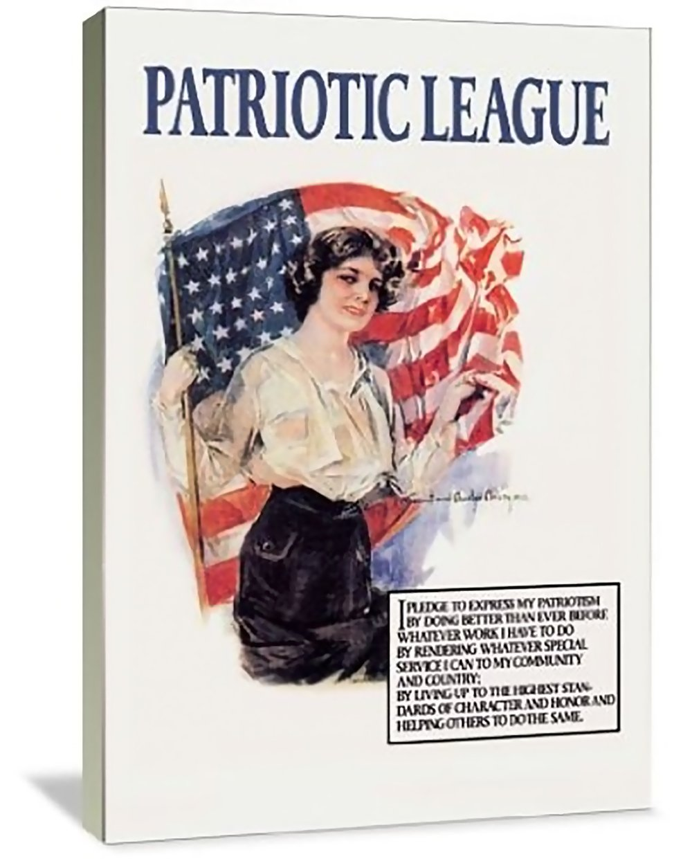 Patriotic League 32'' x 48'' Gallery Wrapped Canvas Wall Art