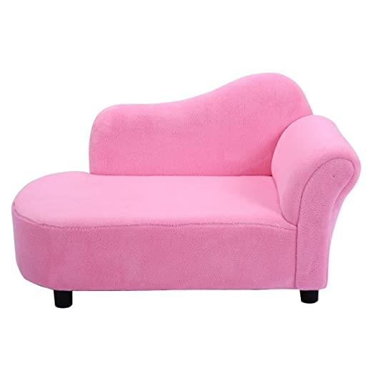 Amazon.com: Pink Princess Style Kids Sofa Strong Wooden Frame ...