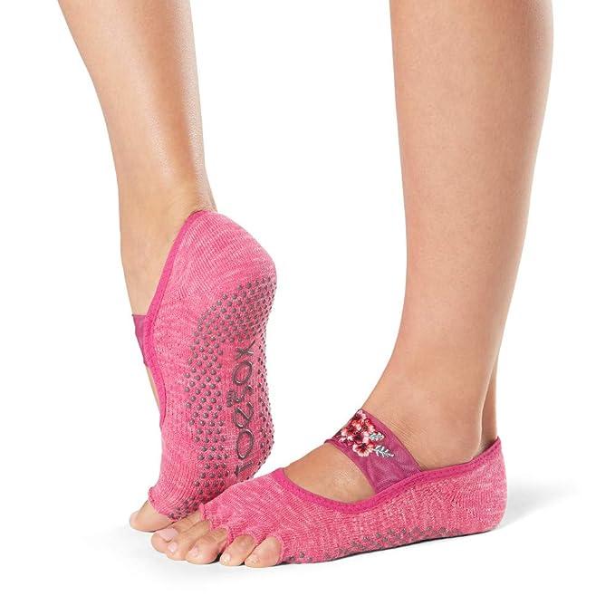 Amazon.com: Toesox – Calcetines Mujer Mia mitad de dedo ...