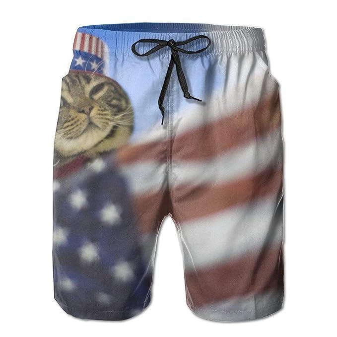 Abfind Bandera Americana y el Gato Hombres/niños Pantalones ...